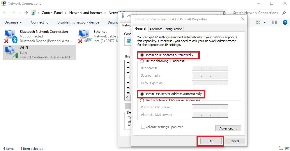 Windows DNS error